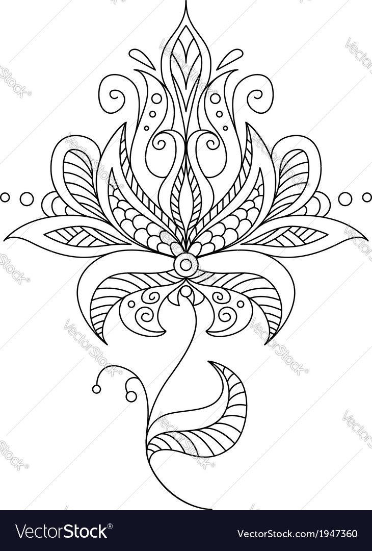 Pretty dainty ornate vintage floral motif vector | Price: 1 Credit (USD $1)