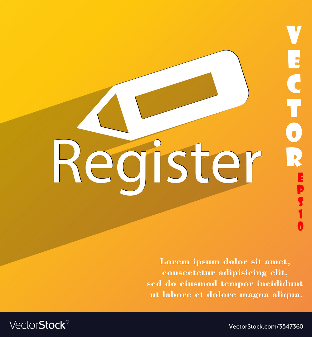 Register icon symbol flat modern web design with vector   Price: 1 Credit (USD $1)