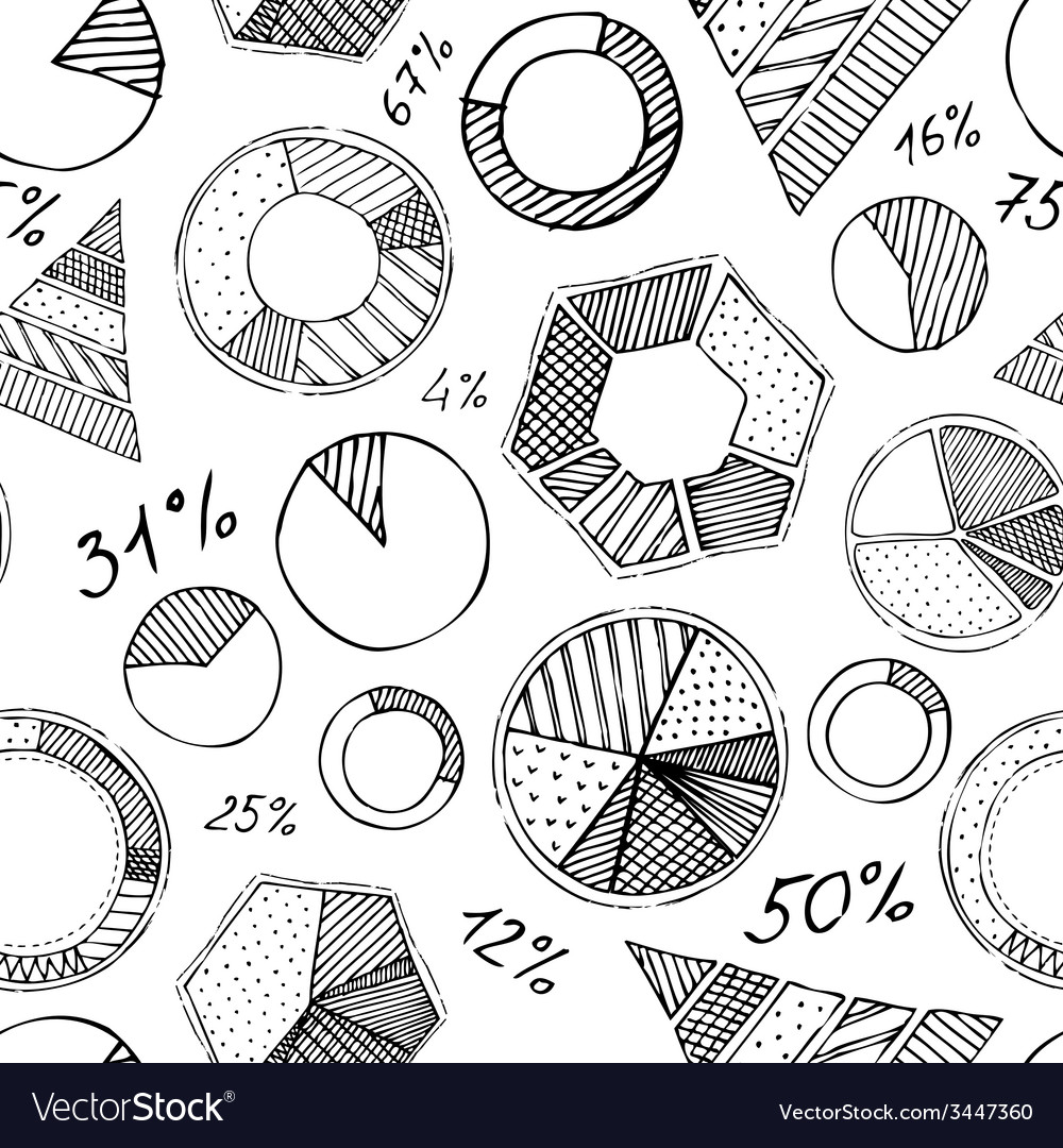Seamless pattern of infographic elements vector | Price: 1 Credit (USD $1)