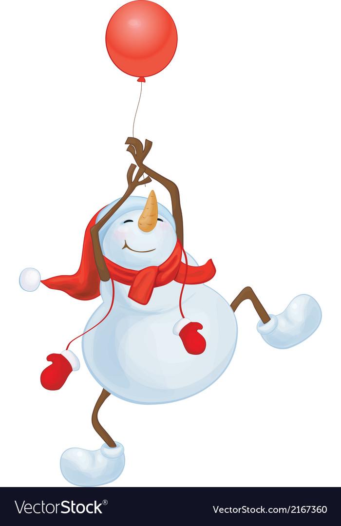 Snowman balloon vector | Price: 1 Credit (USD $1)