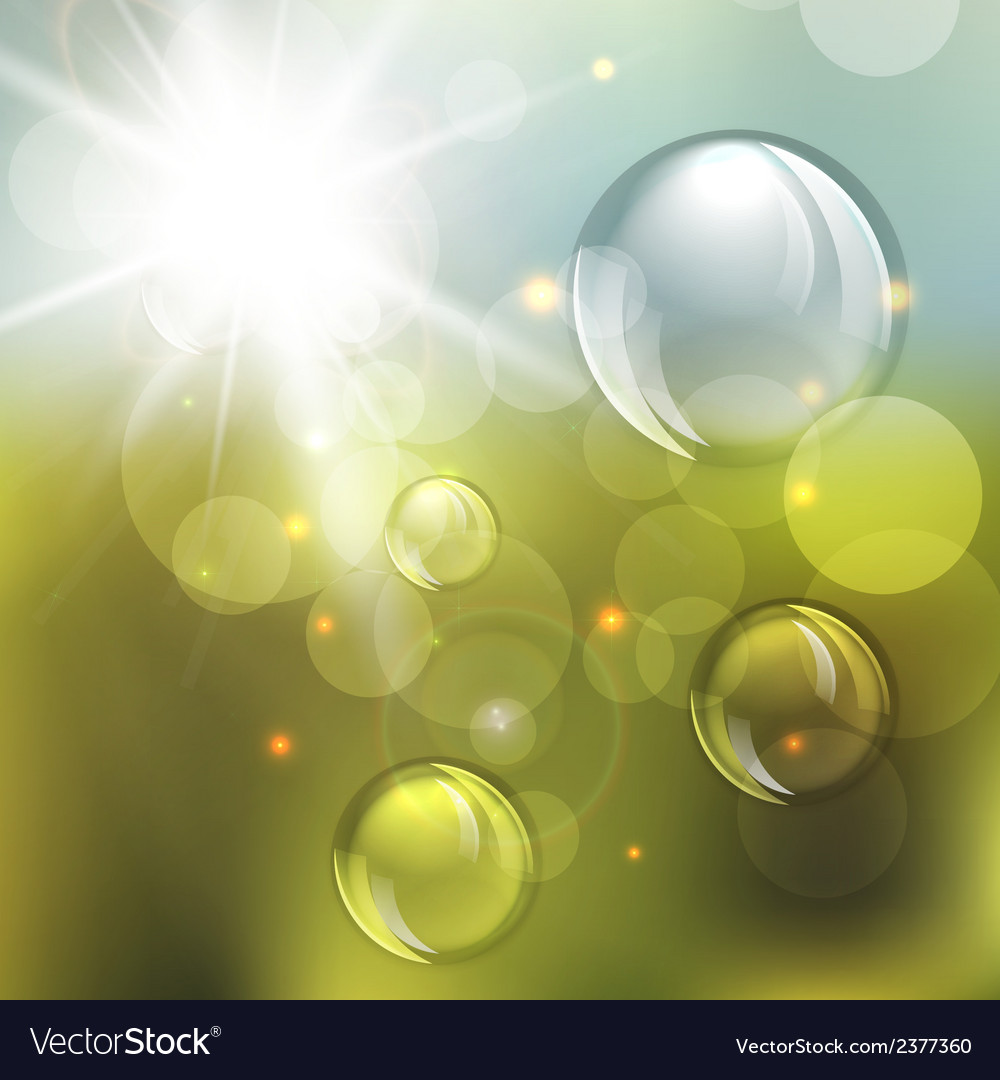 Summer abstract background with lights vector | Price: 1 Credit (USD $1)