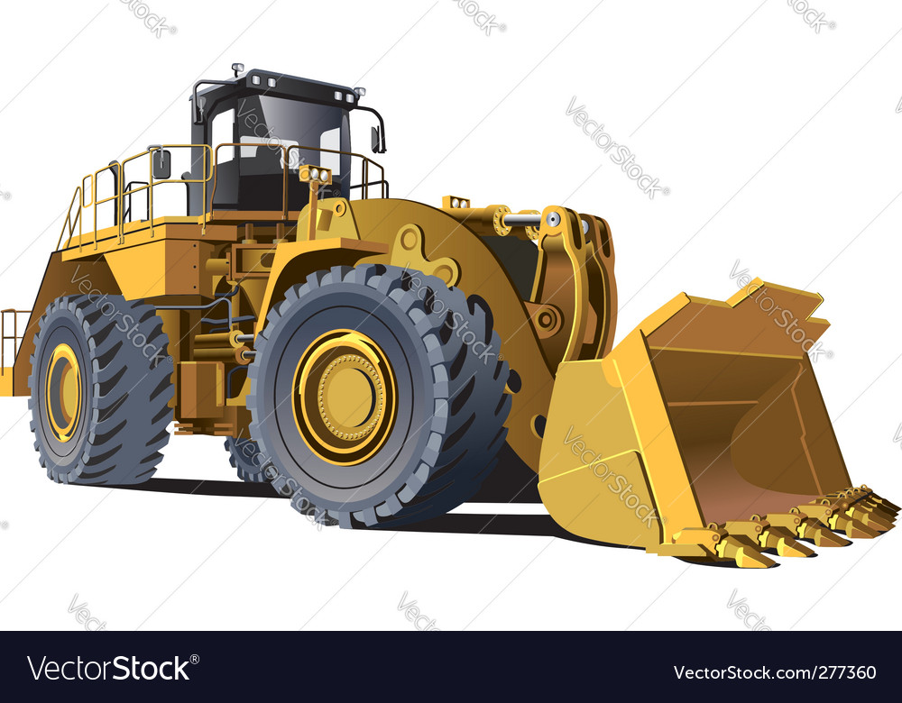 Wheel loader vector | Price: 3 Credit (USD $3)