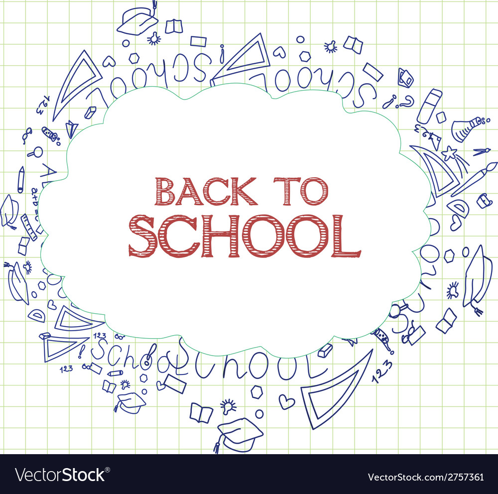 Back to school background with education icons vector | Price: 1 Credit (USD $1)