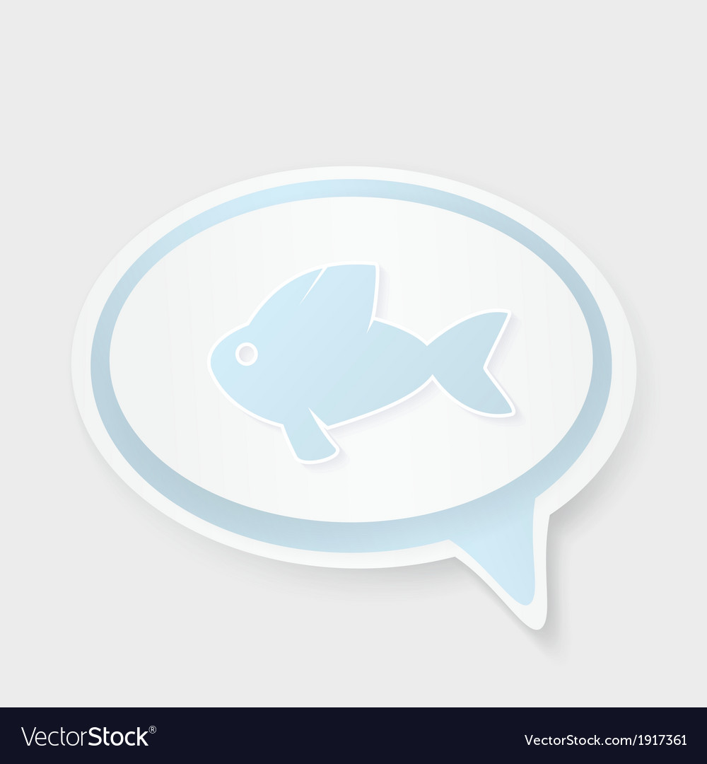 Christian religion symbol fish concept speech vector | Price: 1 Credit (USD $1)