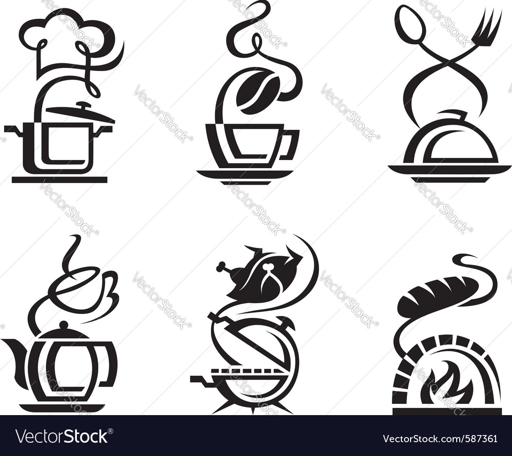 Icon set meal vector | Price: 1 Credit (USD $1)
