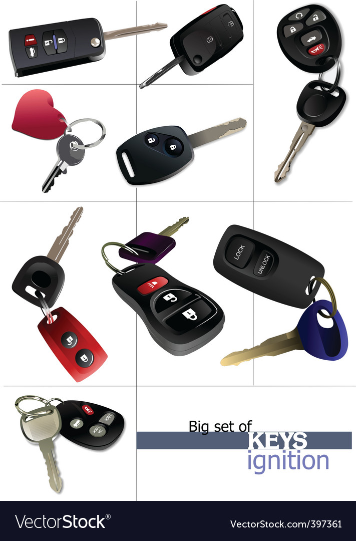 Ignition keys vector | Price: 1 Credit (USD $1)
