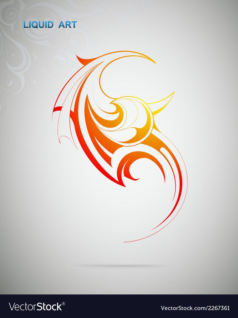 Liquid art fire flame vector | Price: 1 Credit (USD $1)