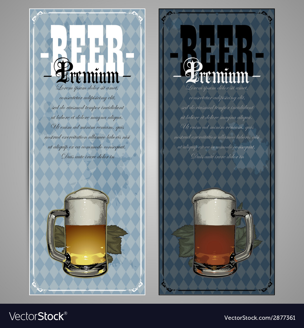 Premium beer menu design vector | Price: 1 Credit (USD $1)