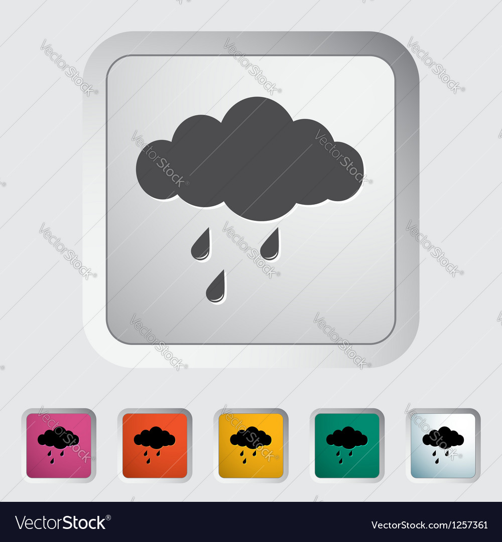 Rain sign vector | Price: 1 Credit (USD $1)