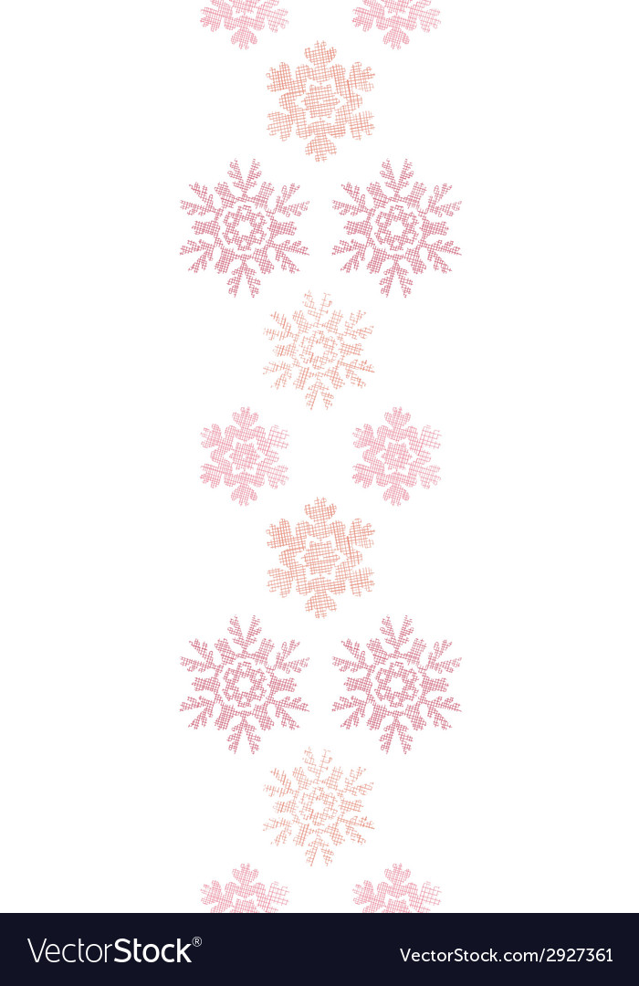 Red christmas snowflakes geometric textile texture vector | Price: 1 Credit (USD $1)