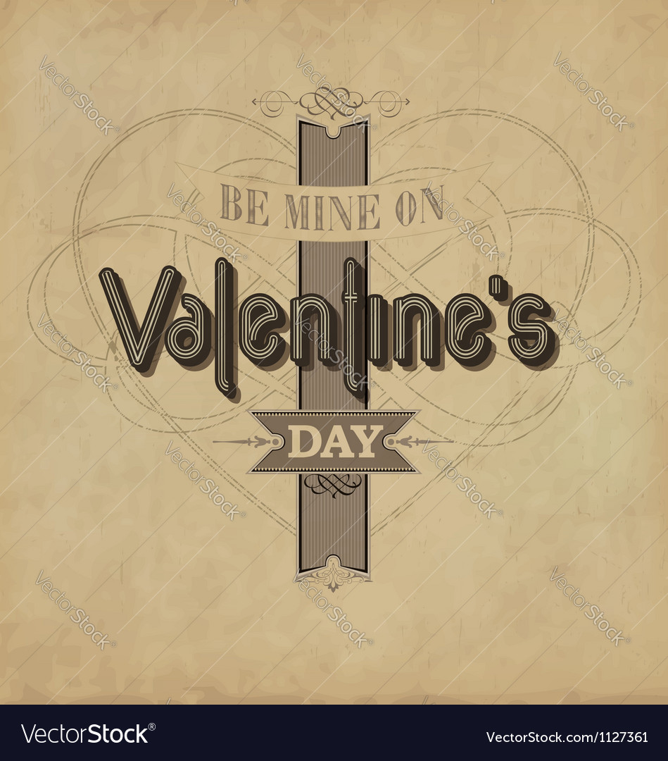 Vintage valentines template vector | Price: 1 Credit (USD $1)