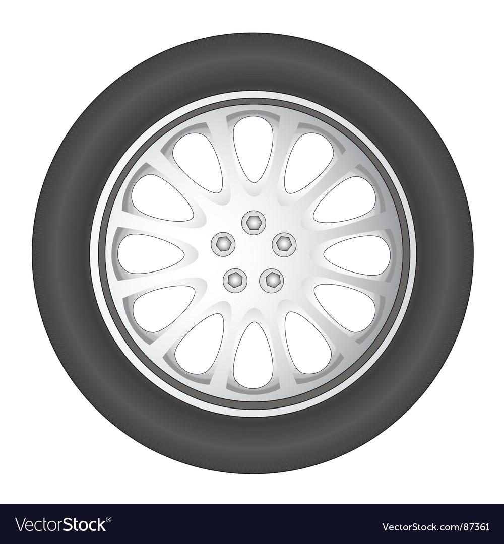 Wheel car vector | Price: 1 Credit (USD $1)