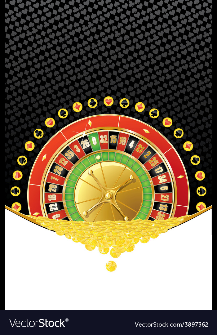 Background with roulette and coins vector | Price: 1 Credit (USD $1)