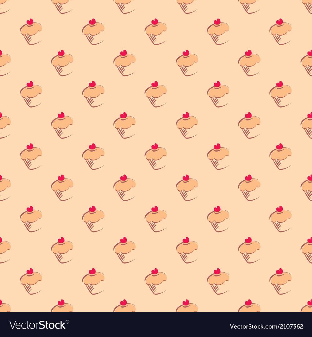 Cupcake tile delicious background wallpaper vector | Price: 1 Credit (USD $1)