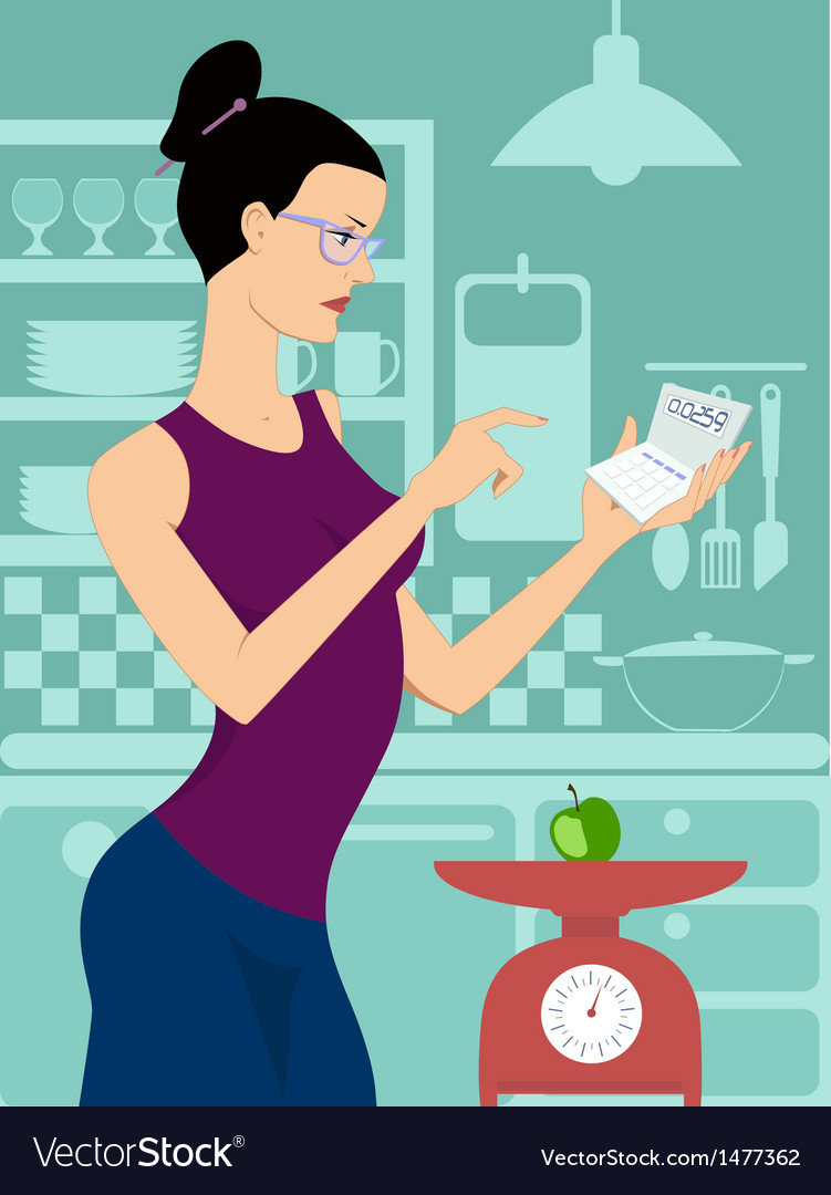 Dieting woman vector | Price: 1 Credit (USD $1)