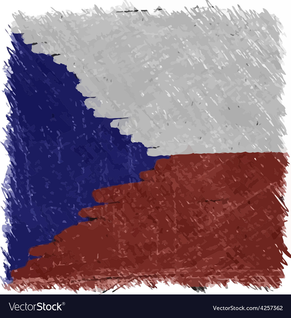 Flag of czech handmade square shape vector | Price: 1 Credit (USD $1)