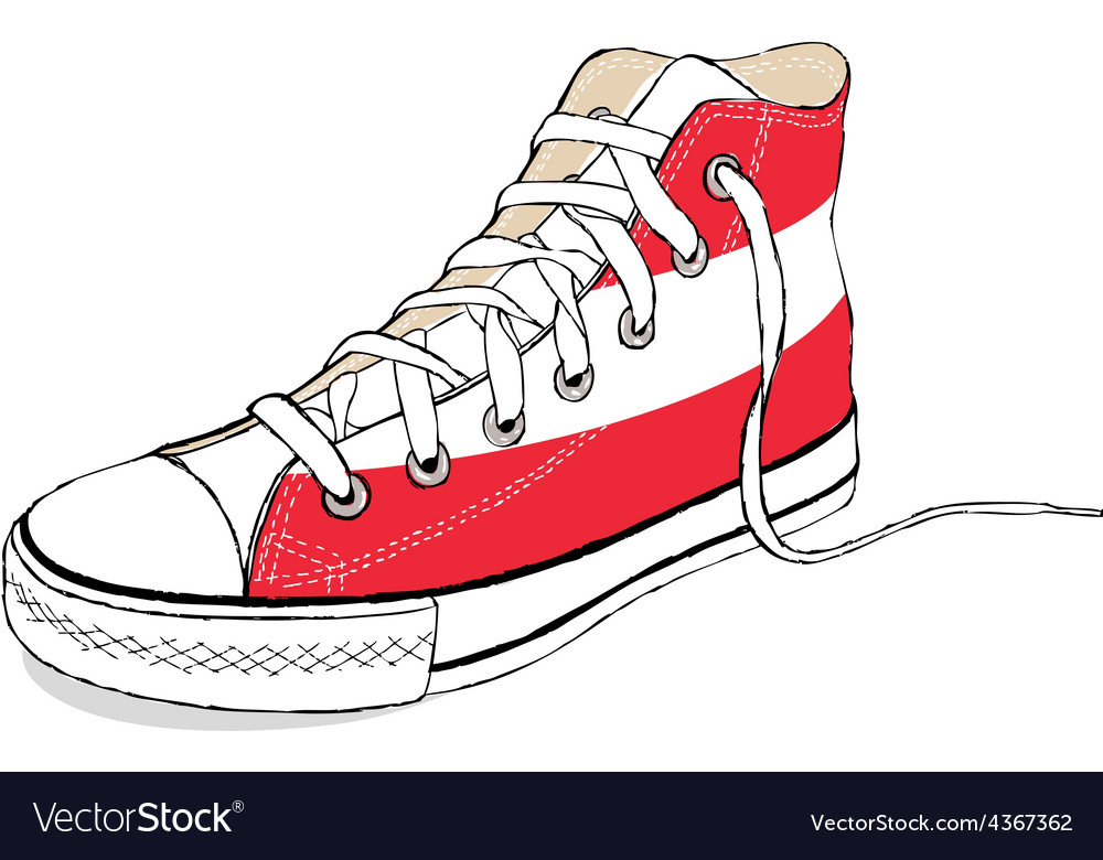 Hand draw modern sport shoes with austria flag vector | Price: 1 Credit (USD $1)