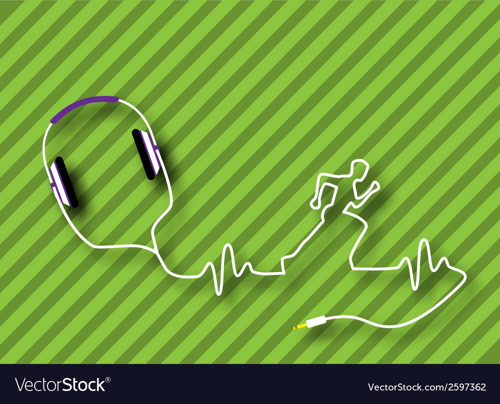 Headphones runner vector | Price: 1 Credit (USD $1)