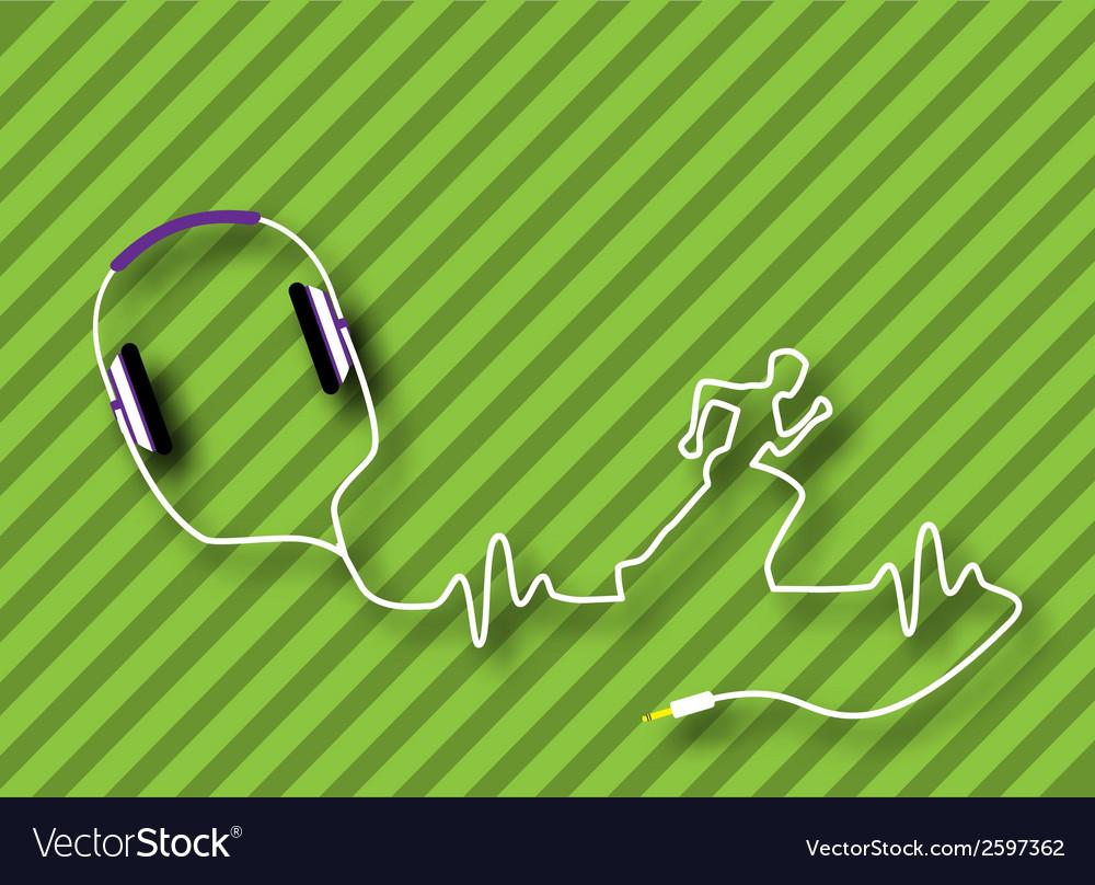 Headphones runner vector | Price: 1 Credit (USD $1)