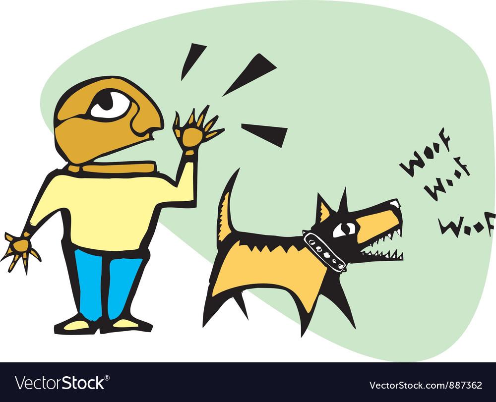 Yelling barking vector | Price: 1 Credit (USD $1)
