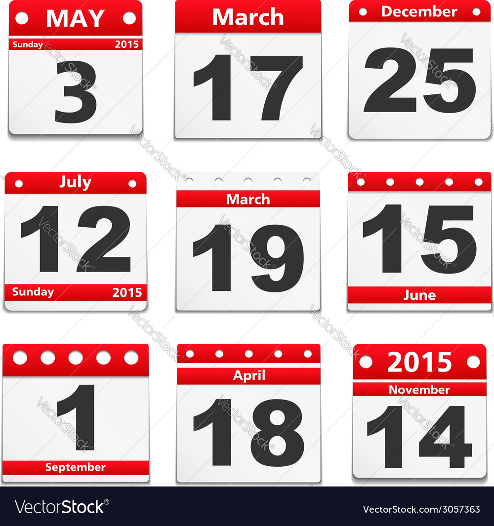 Calendar pages vector | Price: 1 Credit (USD $1)