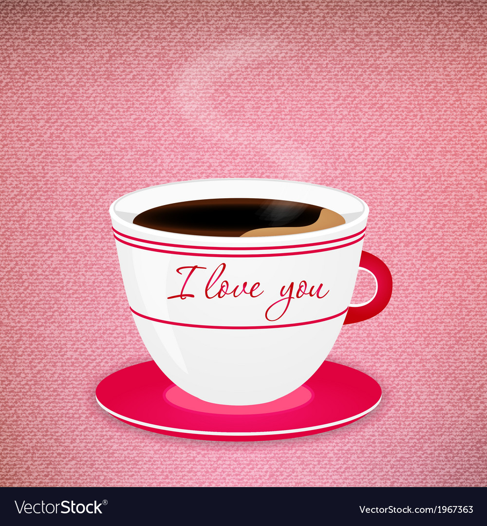 Coffee valentine cup vector | Price: 1 Credit (USD $1)