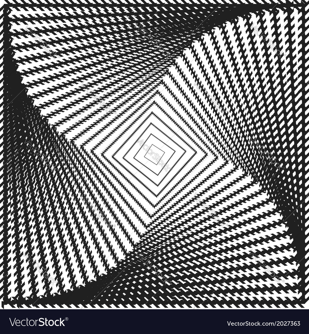 Design monochrome twirl square background vector | Price: 1 Credit (USD $1)