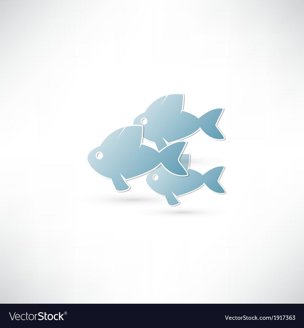 Fish eco icon vector | Price: 1 Credit (USD $1)