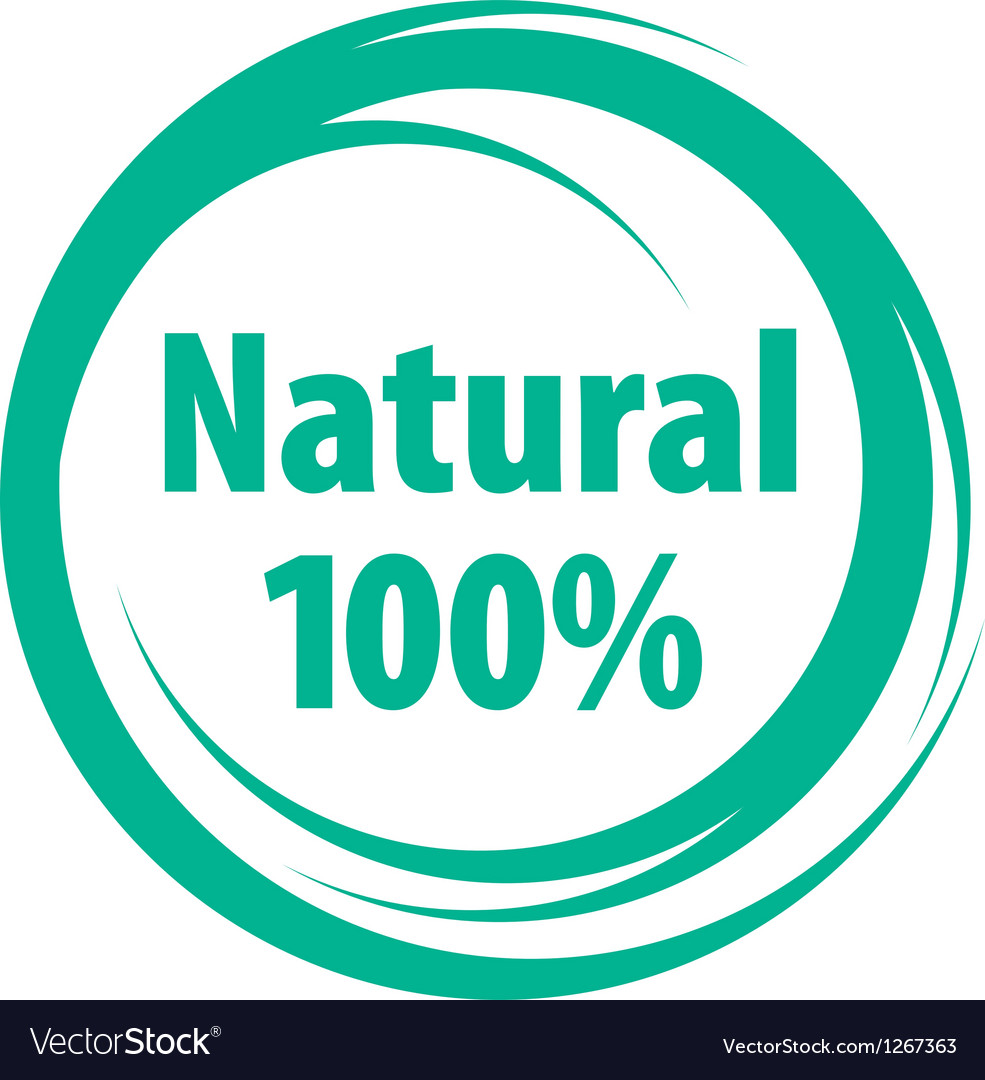Natural sign of quality vector | Price: 1 Credit (USD $1)