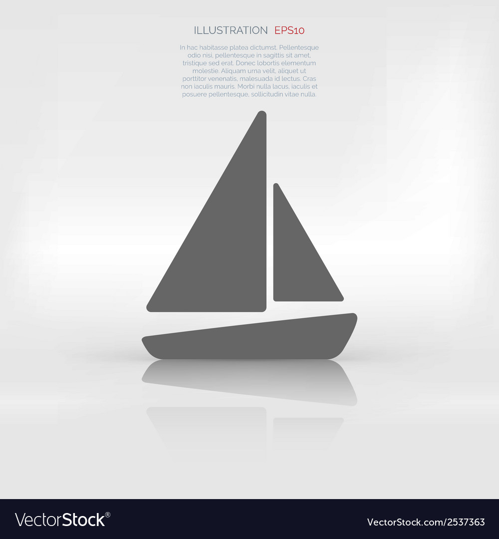 Sailboat ship icon vector | Price: 1 Credit (USD $1)