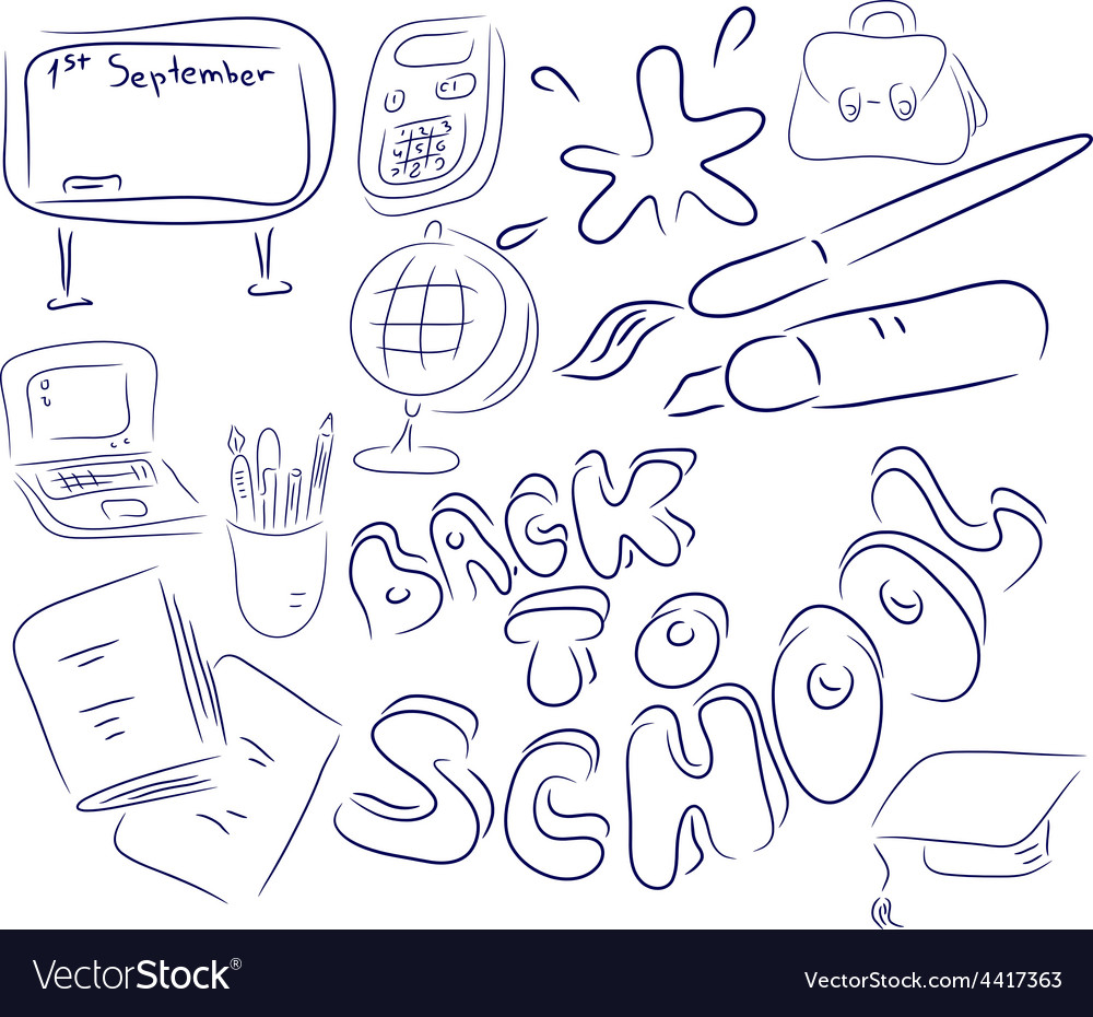School collection vector | Price: 1 Credit (USD $1)