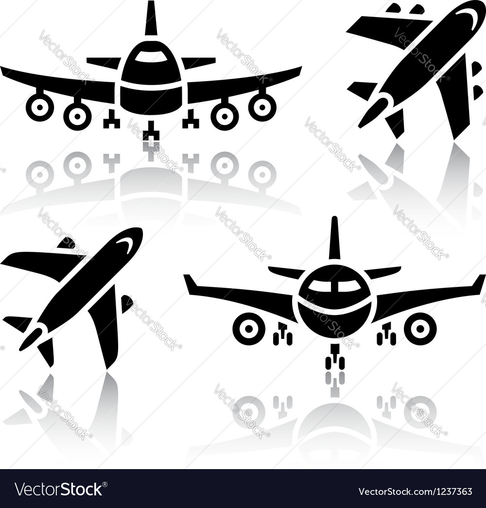 Set of transport icons  plane vector