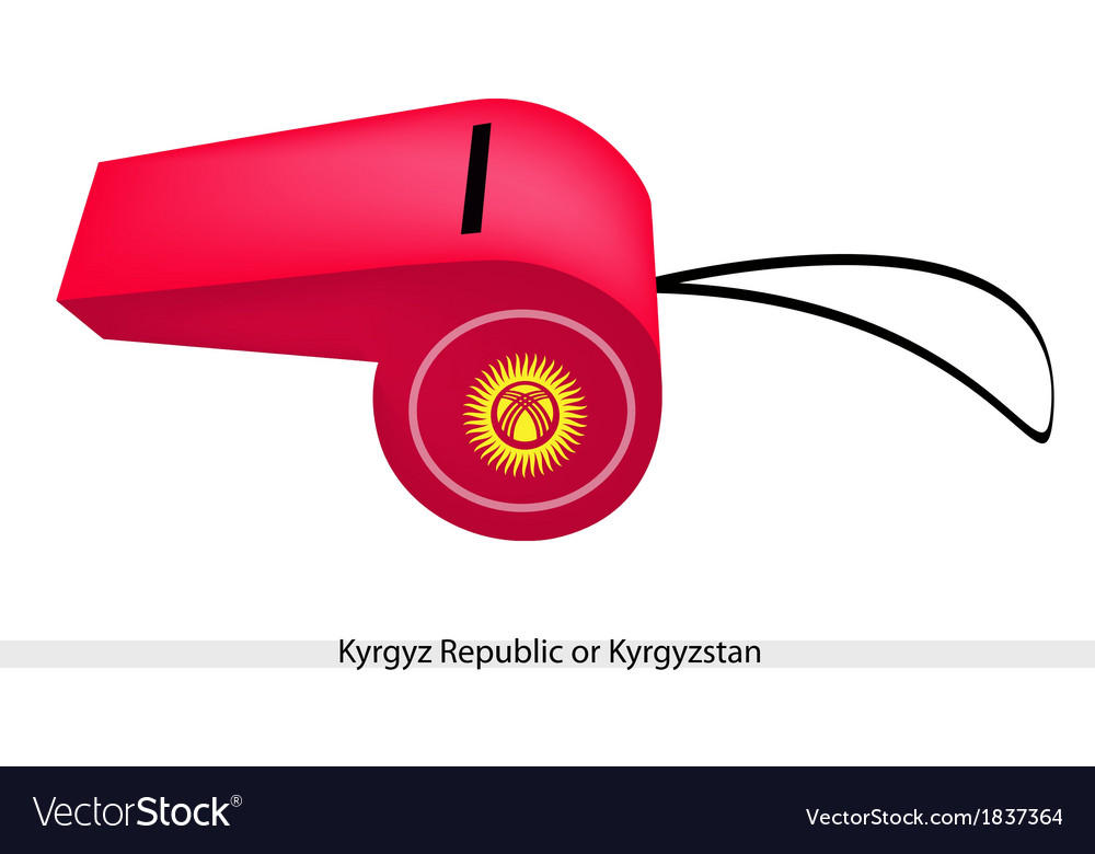 A red whistle of the kyrgyz republic vector | Price: 1 Credit (USD $1)