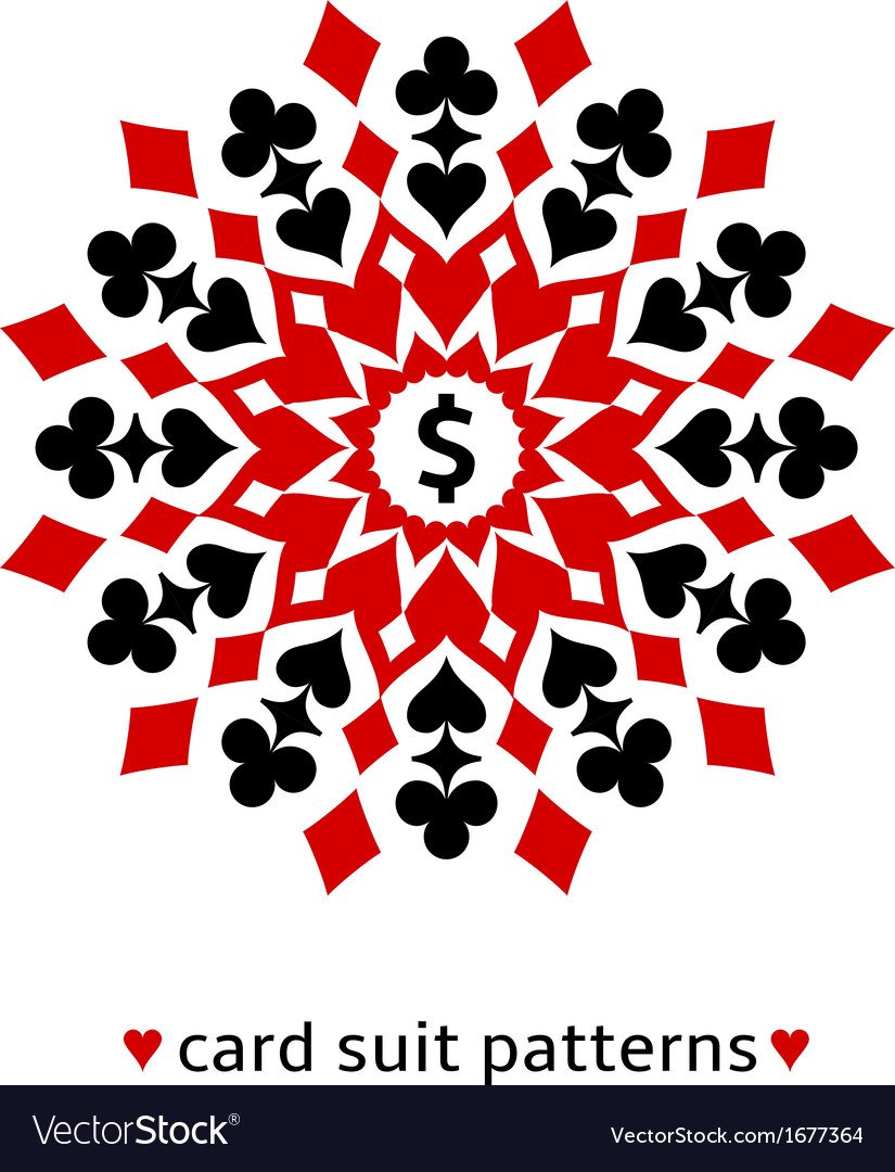 Card suit snowflake ornament vector | Price: 1 Credit (USD $1)