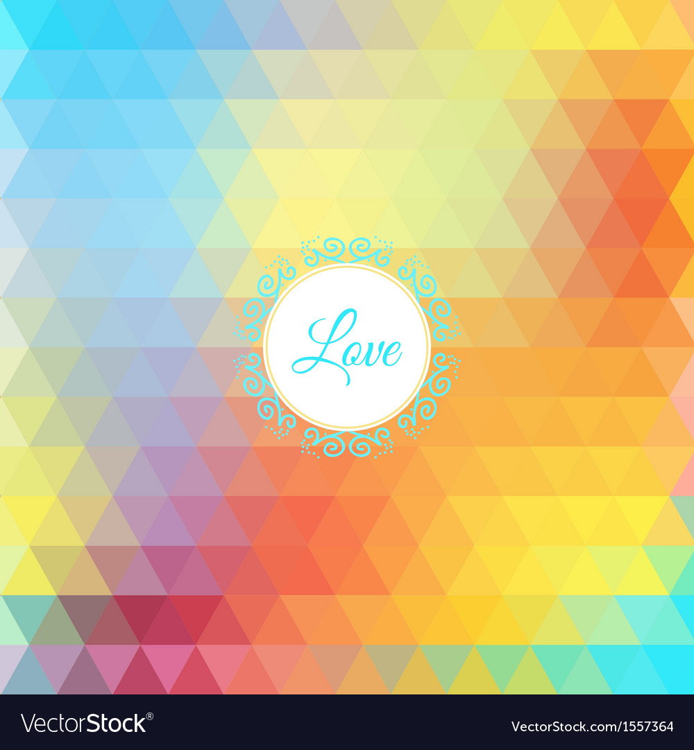 Colorful rainbow triangular background vector | Price: 1 Credit (USD $1)