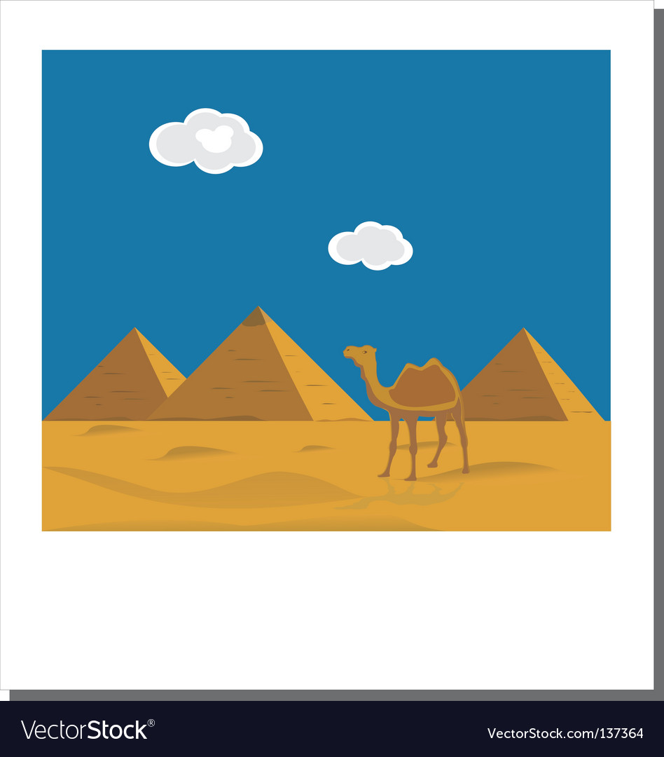 Egyptian pyramids photo vector | Price: 1 Credit (USD $1)
