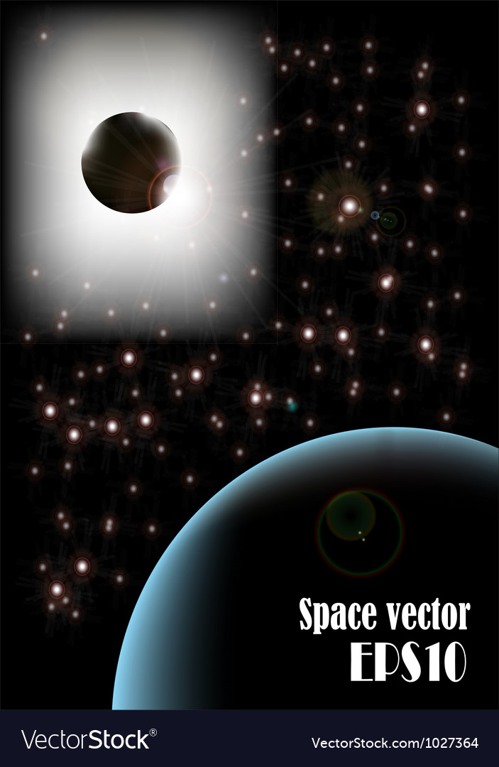 Galaxy poster vector | Price: 1 Credit (USD $1)