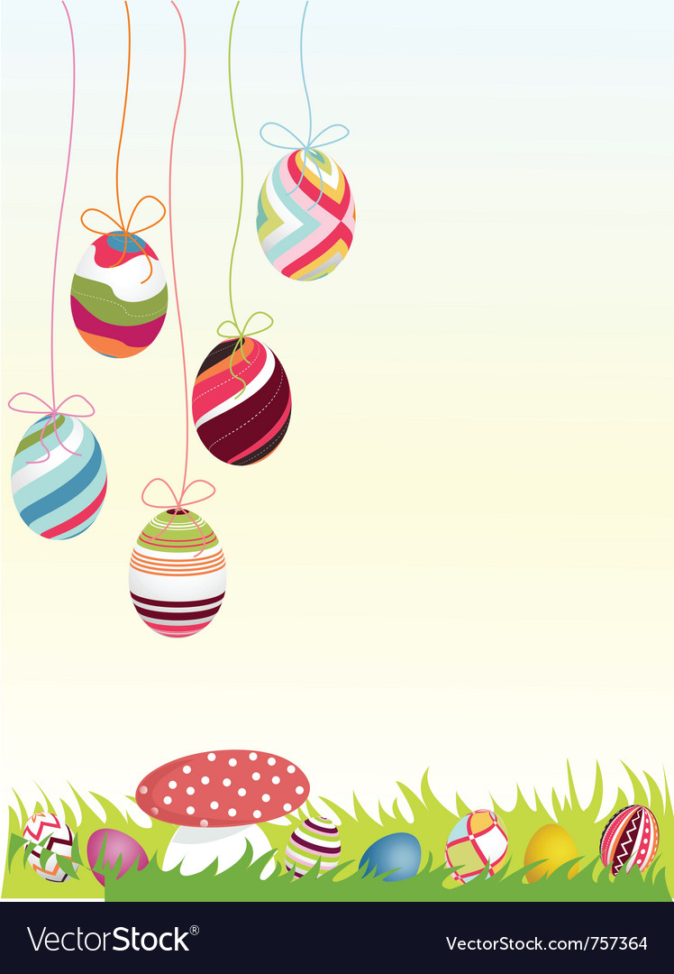 Happy easter background eggs vector | Price: 1 Credit (USD $1)
