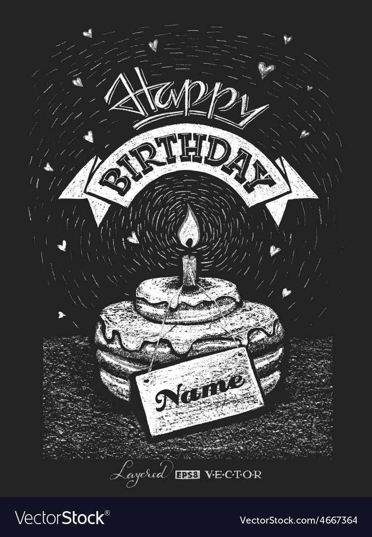 Lettering happy birthday with nameplate on vector | Price: 5 Credit (USD $5)
