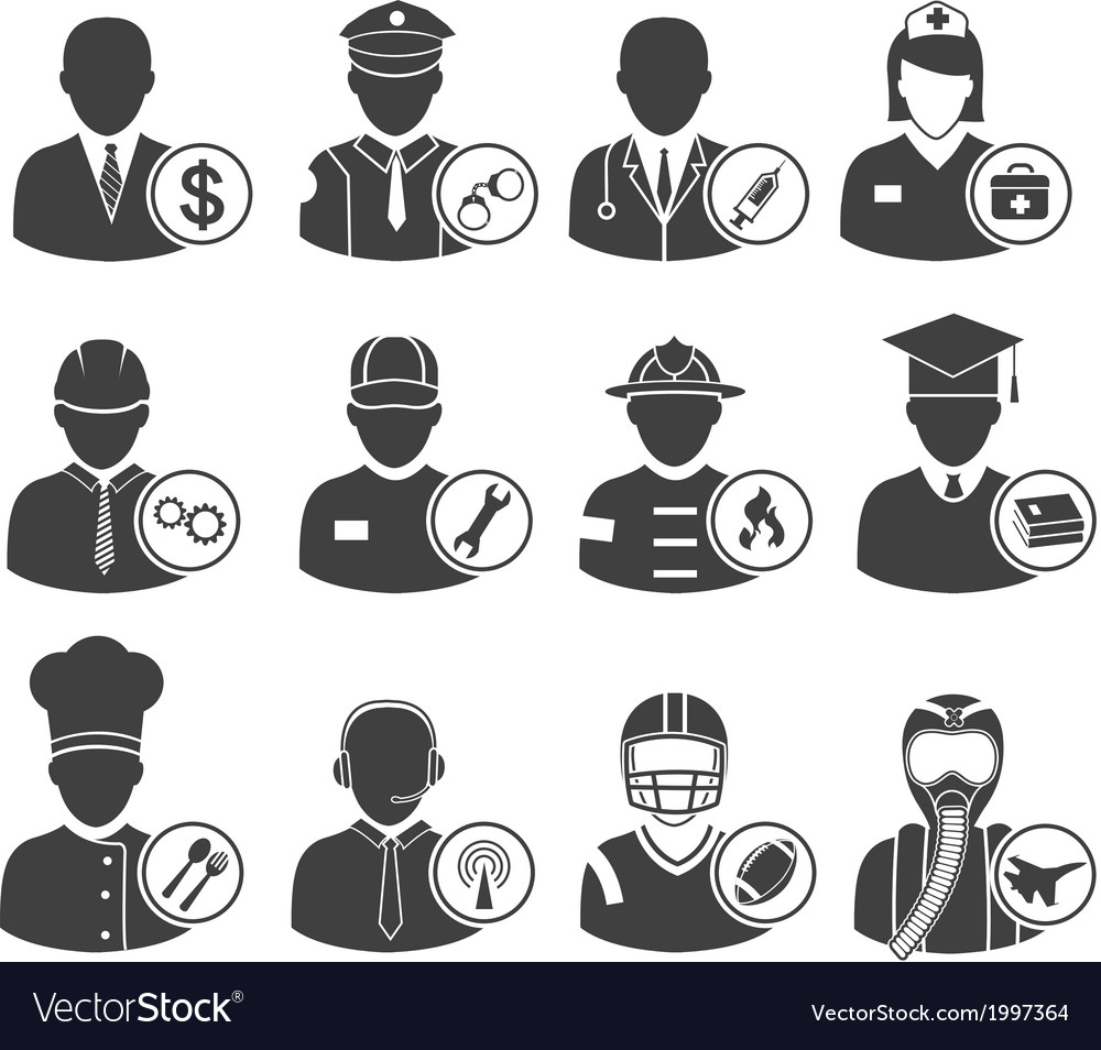 Occupation icons eps10 vector | Price: 1 Credit (USD $1)