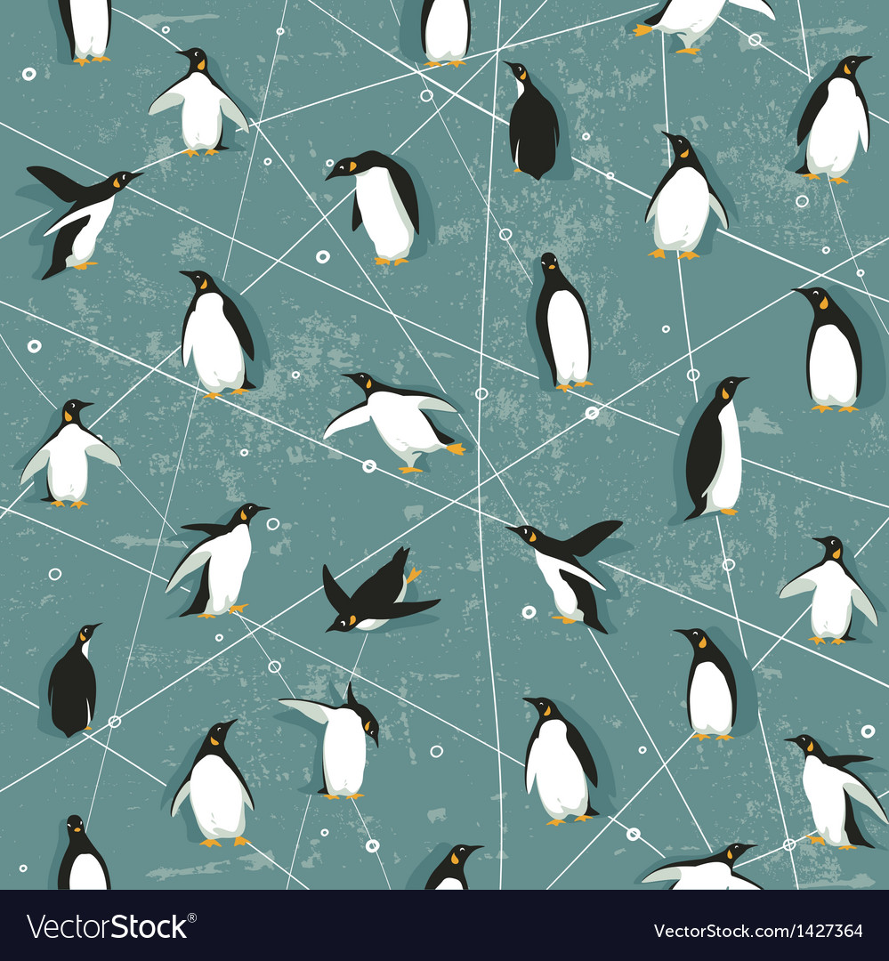 Penguin pattern vector | Price: 1 Credit (USD $1)