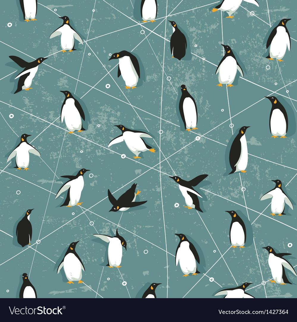 Penguin pattern vector | Price: 1 Credit (USD $1)