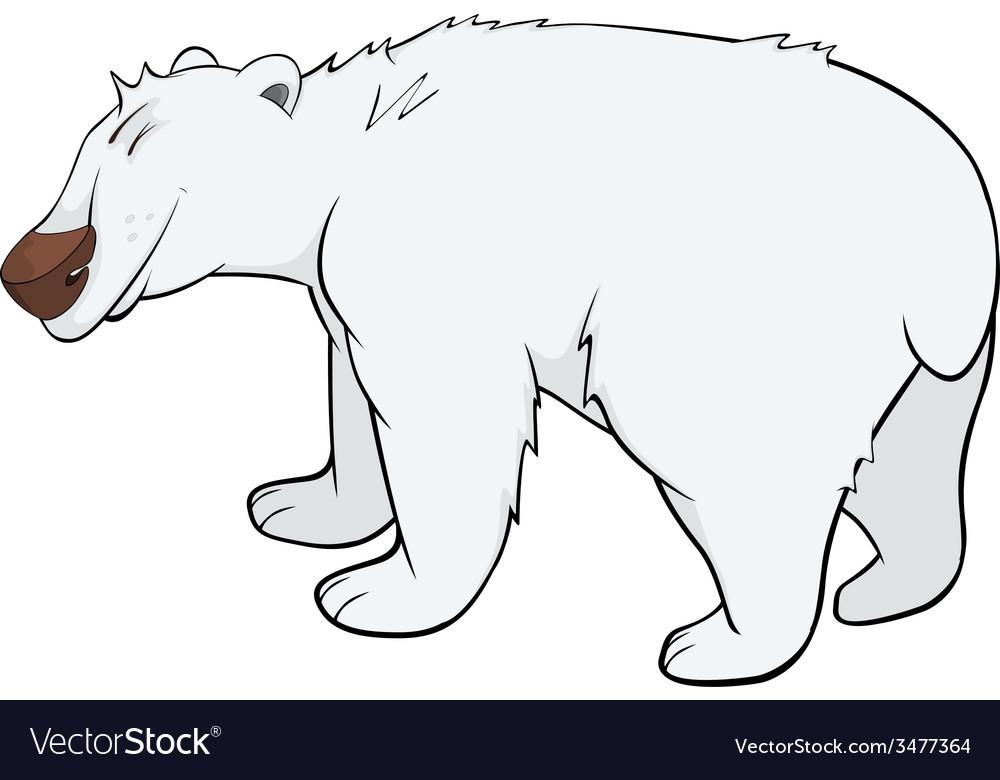 Polar bear cartoon vector | Price: 1 Credit (USD $1)