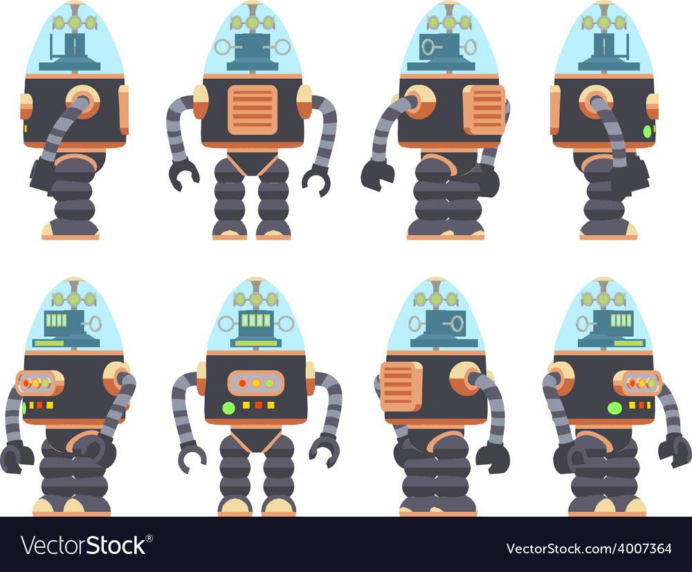 Retro robot vector   Price: 1 Credit (USD $1)
