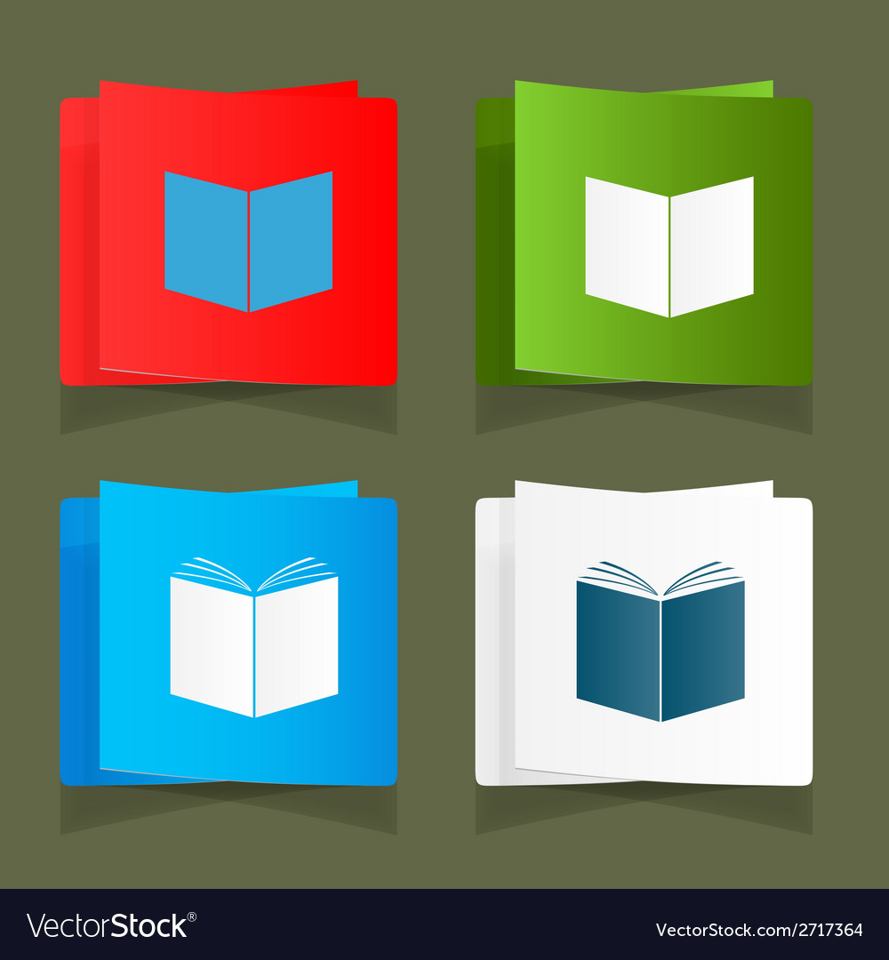 Set icon of an open book vector | Price: 1 Credit (USD $1)