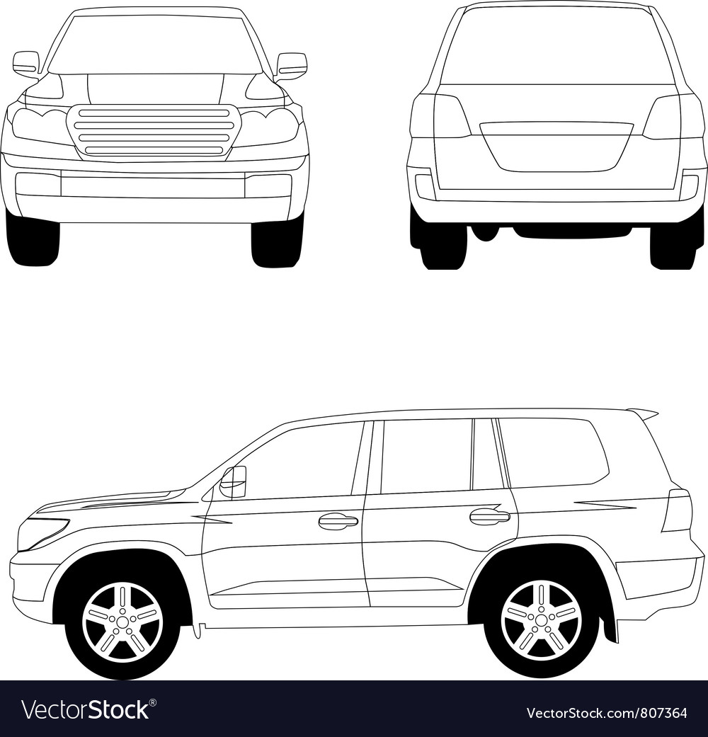 Sport utility vehicle car vector | Price: 1 Credit (USD $1)