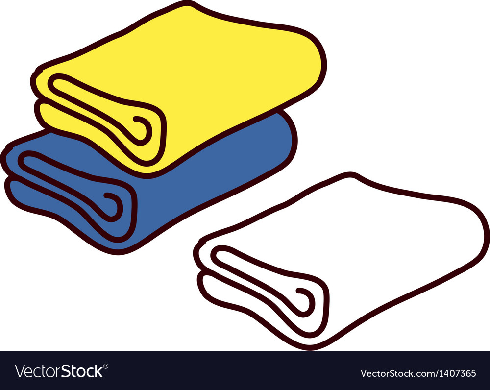 A view of towels vector | Price: 1 Credit (USD $1)