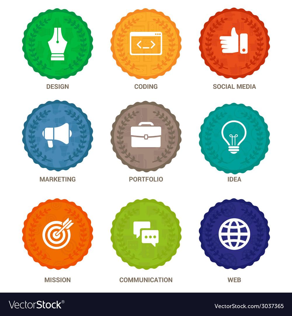 Badges design services vector | Price: 1 Credit (USD $1)