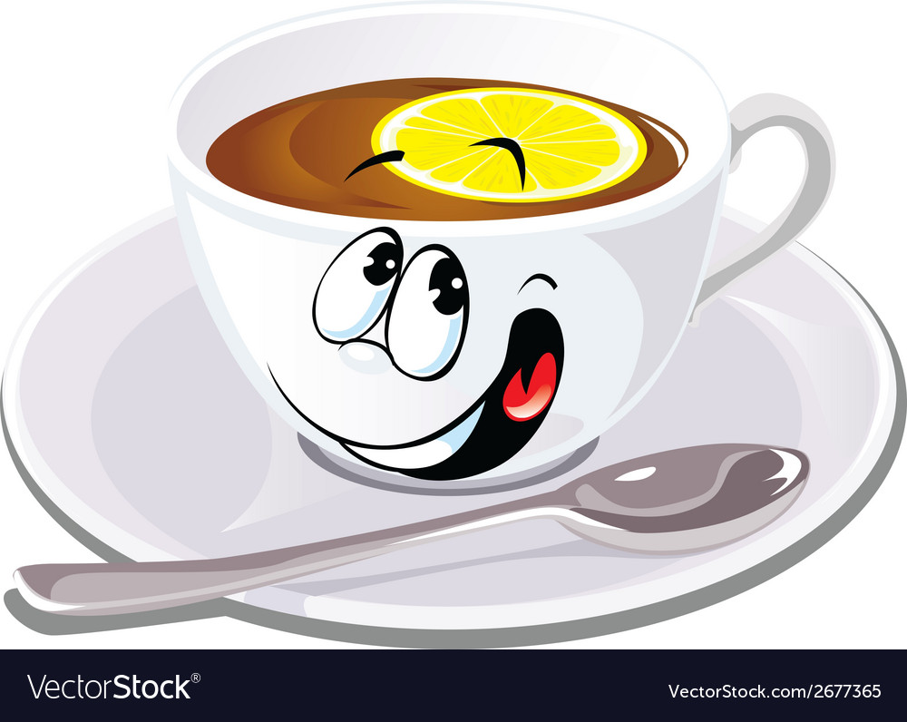 Black tea with lemon vector | Price: 1 Credit (USD $1)