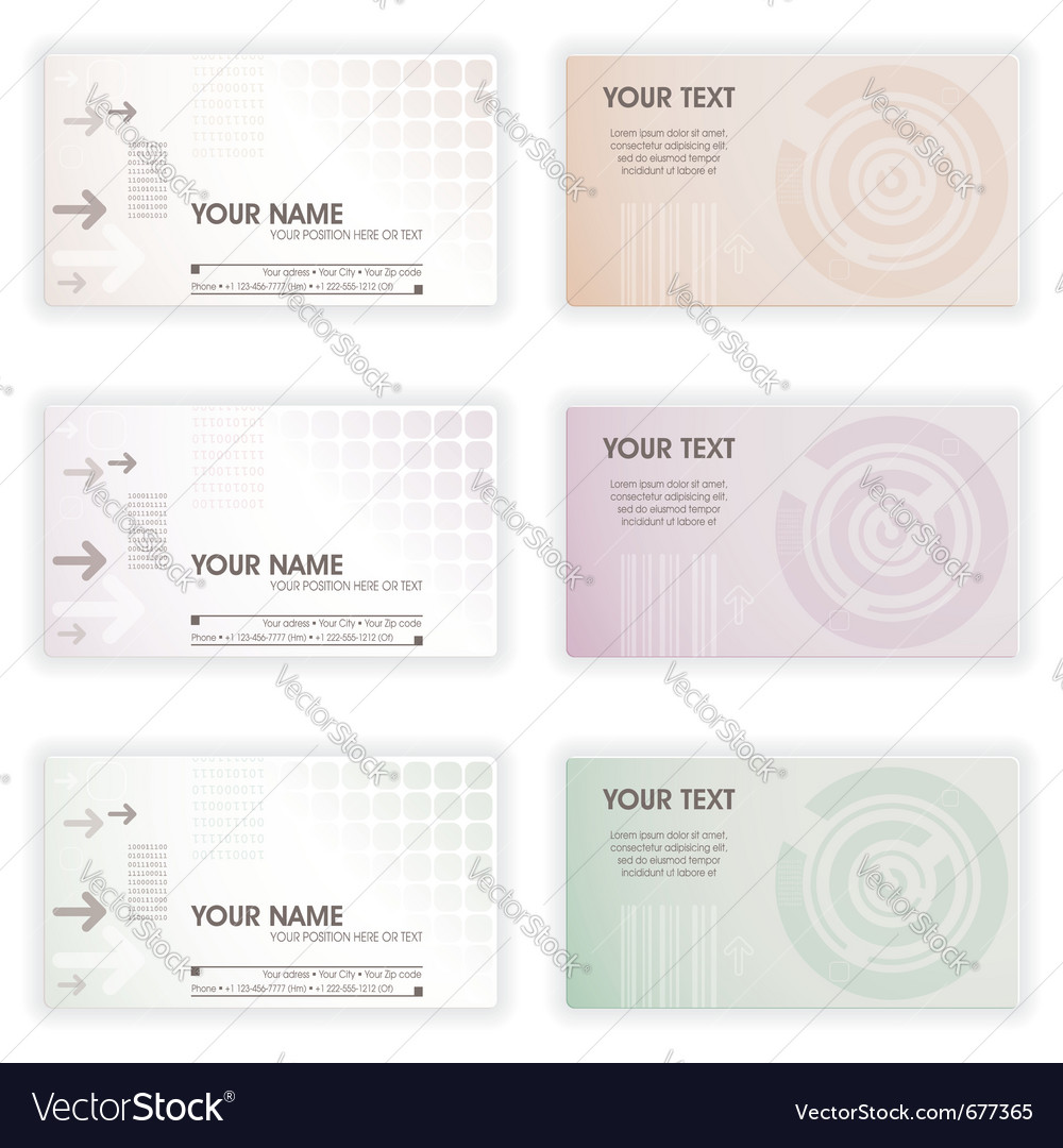 Collect business cards in different colors element vector | Price: 1 Credit (USD $1)